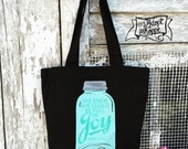 full of joy mason jar tote bag