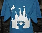 Disney Shirt Disney Castle Shirt Disney Home Shirt Adult Long Sleeve or Short Sleeve Home T-shirt