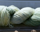 Hand Dyed Superwash Merino Lace Weight Yarn, Sage Colorway, 980 Yards