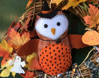 Sabrina the Witch Owl Doll Cute Halloween Decor