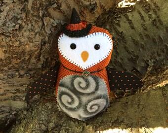 Hazel the Witch Owl Doll Cute Halloween Decor