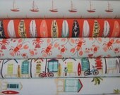 Rag Quilt Kit, OffShore, Surf, Hawaiian Designer Fabrics,  Easy to Make, Personalized