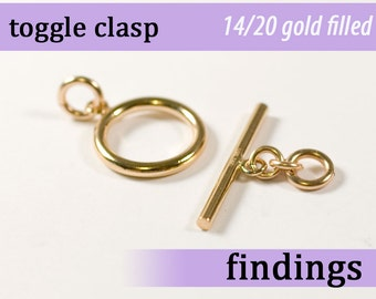 14k gold filled toggle clasp