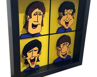 The Beatles Wall Art 3D Pop Artwork Print