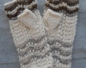 Wool Knitted Fingerless Mitts