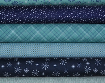 Calico Days 6 Fat Quarters Bundle by Mixed Designers for Riley Blake, 1 1/2 yards total