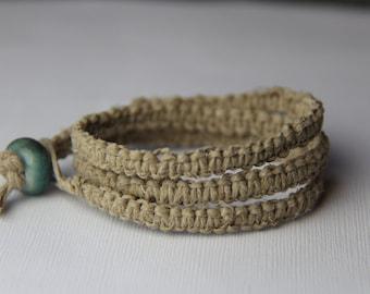 Triple Wrap Hemp Bracelet