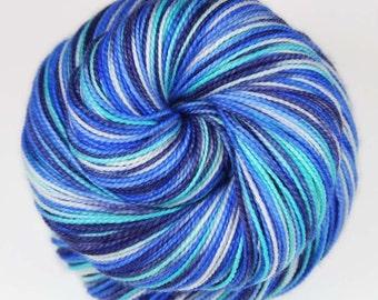 PILATUS: Superwash Merino Wool-Nylon-Stellina Sparkle - Fingering / Sock Weight Yarn - Hand dyed Indie sock yarn - Variegated yarn