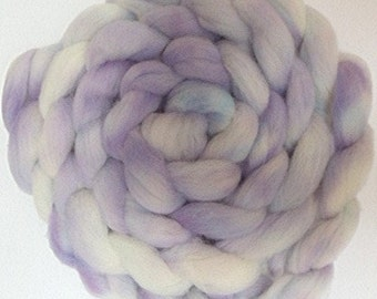 "Wool Roving Babydoll Southdown / Alpaca for Spinning & Needle Felting 4 Oz Combed Top Purple Pastel Fiber "" Thistle Down  """