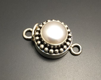 Sterling Silver Pearl Clasp Sterling Silver Jewelry Findings Jewelry Supplies