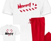 Family Christmas Pajamas with Candy Canes - Family Tradition - hanukkah loungewear - Shirt & Pants