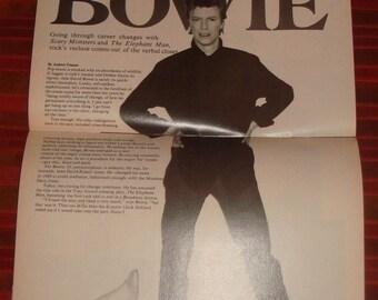 DAVID BOWIE in US magazine dec 9th 1980