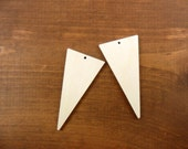 Triangles - Select a Size - Unfinished Wood Laser Cut Triangle Earrings Pendant Jewelry Shapes