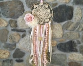 Dream Catcher, Nursery Decor, Party Decor, Pink and Gold, Rustic