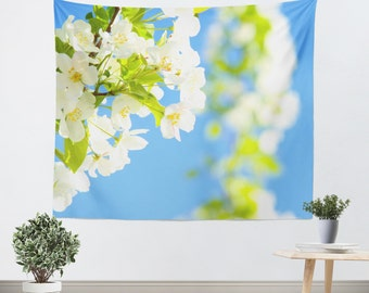 Art Wall Tapestry Bright Blooms fine art photography home decor