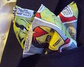 Marvel™ Superheroes Comic Book Print Pocket Square With Hand-Rolled Hems