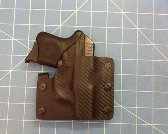 Black Carbon Fiber Kydex Retention Holster for Rugar LCP 380