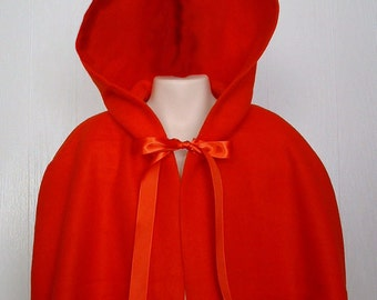Little Red Riding Hood Capelet Girls Adult Felicity Red Fleece Capelet - Ready to Ship