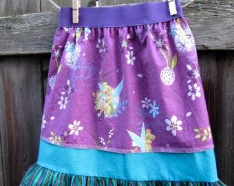 OOAK Tinkerbell Elastic Waist Skirt Size 5/ 6