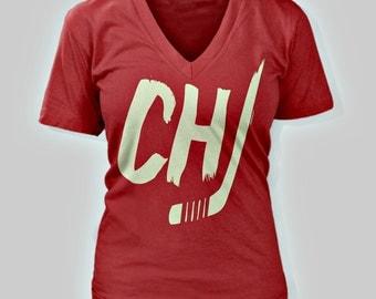 Chicago Blackhawks Women's V-Neck T-Shirt