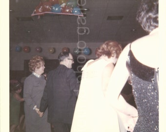 Vintage Photo, Dancing at Party, The Hora, Color Photo, Snapshot, Found Photo, Old Photo, Family Photo, Vernacular Photo
