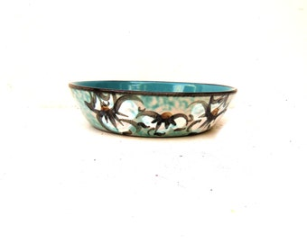 Vintage Matte Pottery Bowl, Clayburn Pottery Bowl, Matte Floral Pottery Bowl