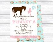 Shabby Chic Pony Invitations