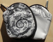 Cosmetic Bag featuring Doodle Pad Art by David Jablow Feeding
