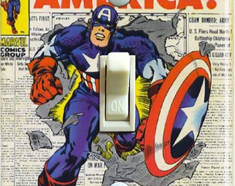 Vintage Captain America #109 1968 Switch Plate (Single) ***FREE SHIPPING***
