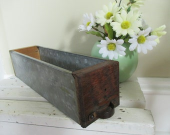 Vintage Salvaged Wood and Metal Drawer - Industrial Decor - Studio Decor