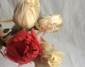 Vintage feather flowers  feather roses