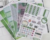 Slytherin Kit Harry Potter Hogwarts Common Room Inspired Planner sticker 6 sheet weekly kit for Erin Condren, Happy Planner, Inkwell press