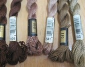 Perle Cotton Embroidery Thread Assortment Earthtones Brown Taupe