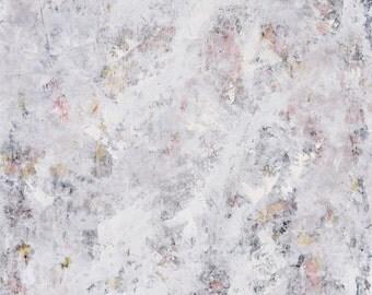 Large Abstract Painting Minimal Minimalist art White Cream gray cold wax medium oil Imagine 36 x 24   Swalla Studio