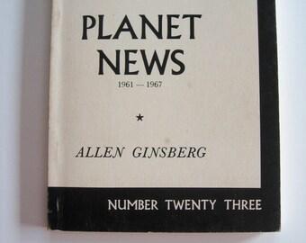 Planet News  ALLEN GINSBERG 1982 Edition Counterculture Beat Poet Beatnik
