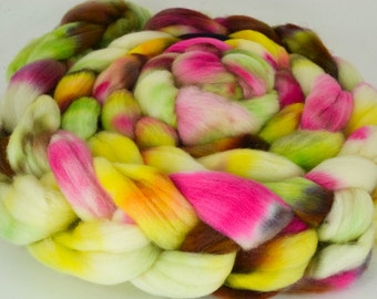 Cormo Wool Top, Hand Dyed, Spinning and Felting Fiber Colorway- Envy