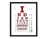 Eye Chart - Indiana University - Art Print - Wall Art-  Poster - Hoosiers