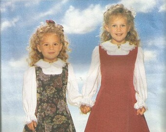 Vintage 1995 Butterick 4270 It's Enchanting Girls Jumper and Blouse Pattern SZ 5-6X