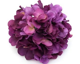 One Hydrangea Head - Shades of Purple - Artificial Hydrangea, Flower Crown, Wedding Flowers