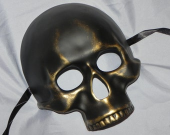 Antique Gold Skeleton Mask - Halloween Mask