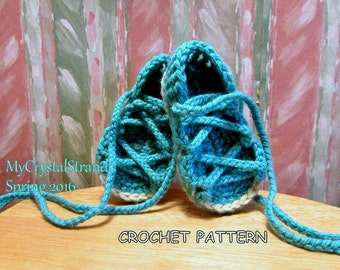 "Buggs - NEW - Crochet Pattern ""My Little Gladiator's""  Lace Up Sandals"