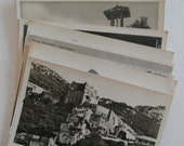 32 Vintage Black and White Foreign Postcards, Unused/Blank, Architectural, Landscape