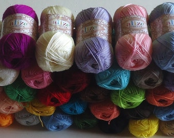 300g ALIZE FOREVER a soft and silky Crochet Yarn, beautiful microfibre yarn in full choice of lovely colours,ideal for crocheting.