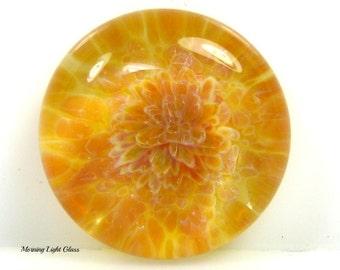16mm Waimea Sunshine Boro Lampwork Glass Cabochon