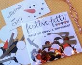 Want to Build a Snowman festive-fetti™ Confetti - Party Confetti in a Bag / Toss Confetti / Confetti as Decor / Stocking Stuffer