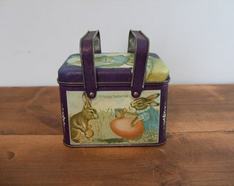 Happy Eastertide! Vintage Easter Tin with Handles