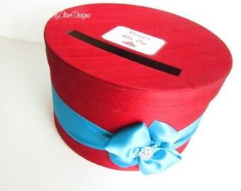Birthday Card Box, Circus Theme, Baby Shower Money Box - Custom Made