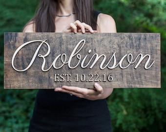 Family Name Sign | 3D | Wedding Established Sign  | Wedding Last Name Sign | Wedding Family Name Sign | Wedding Name Sign | EST Sign