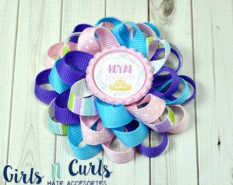 Boutique Style Loopy Flower Girls Hairbow Royal Princess