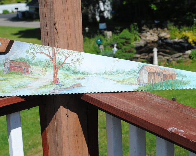 For SALE  A vintage hand painted saw blade.. For sale